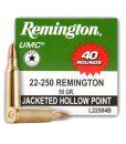 Remington UMC 22-250 40 rounds